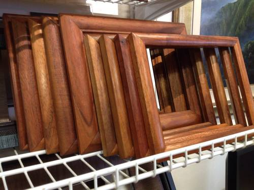 custom and ready made koa wood frames