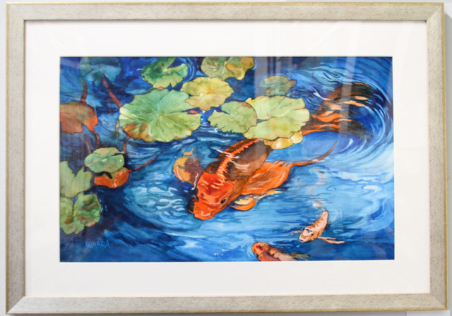 Maui artists picture it framed Christine Waara watercolor