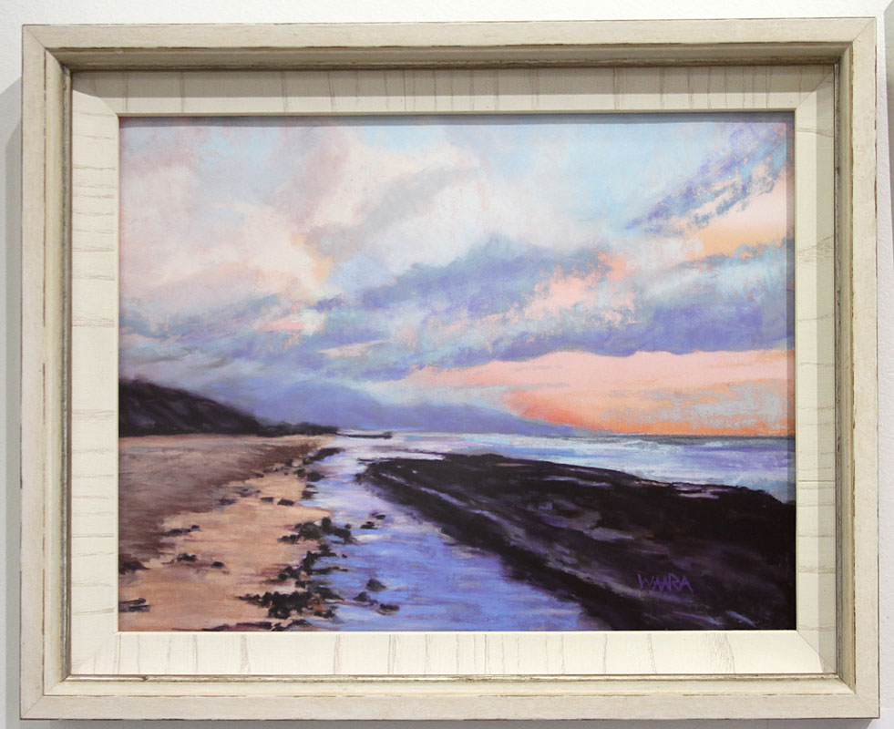 Maui artists picture it framed Christine Waara soft pastel watercolor