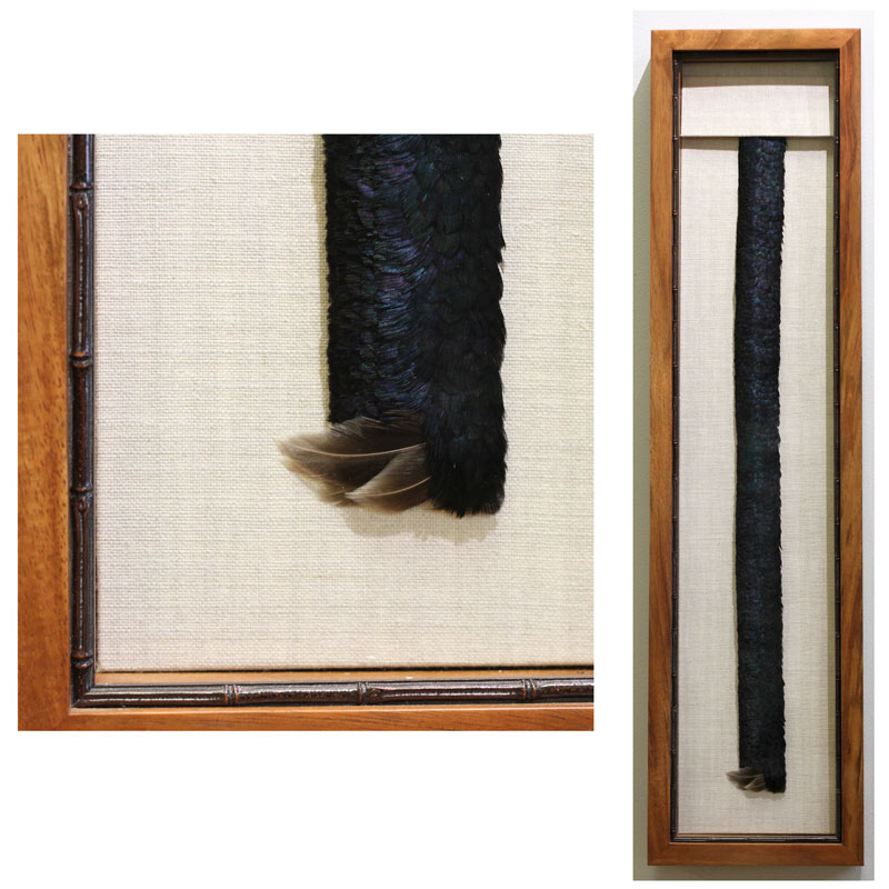 Maui artists picture it framed Carol Yamamoto feather hatband